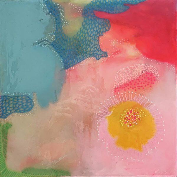 Carla Filipe Australian Artist Colour Song Trust 2018 mixed media on wood