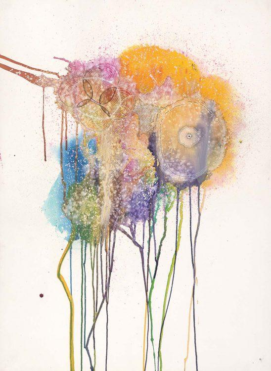 Carla Filipe Australian Artist Sacred Ovum Primavera 2016 mixed media on watercolour paper
