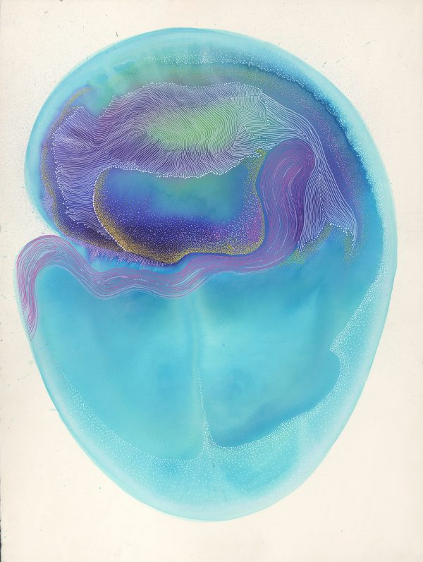 Carla Filipe Australian Artist Sacred Ovum When I first laid eyes on you mixed media on watercolour paper 2018