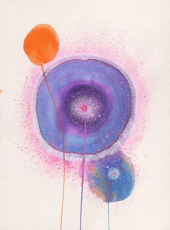 Carla Filipe Australian Artist Sacred Ovum Life begins from within 2018 Mixed media on watercolour