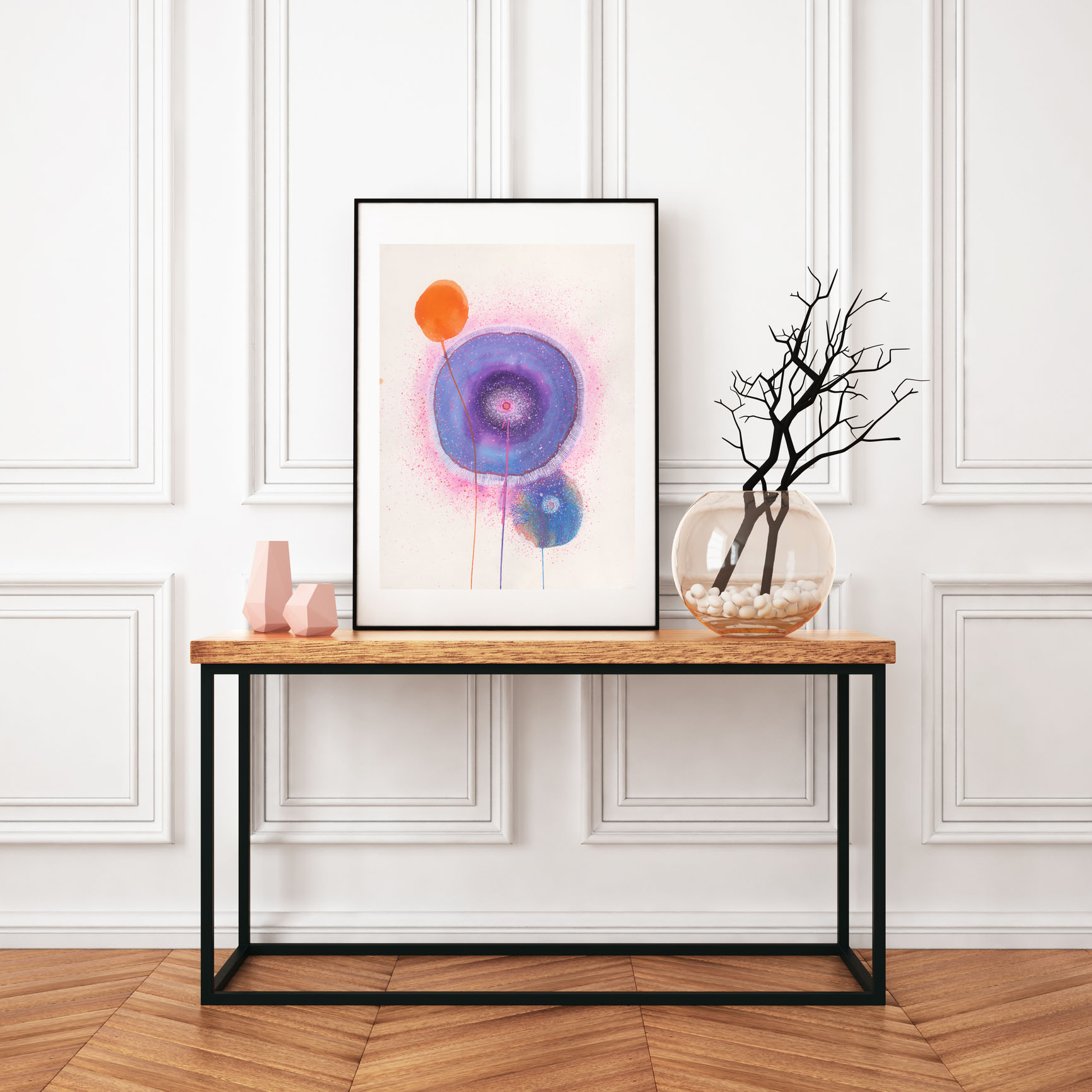Carla Filipe Australian Artist Sacred Ovum Life begins from within 2018 - mixed media on watercolour paper in situ