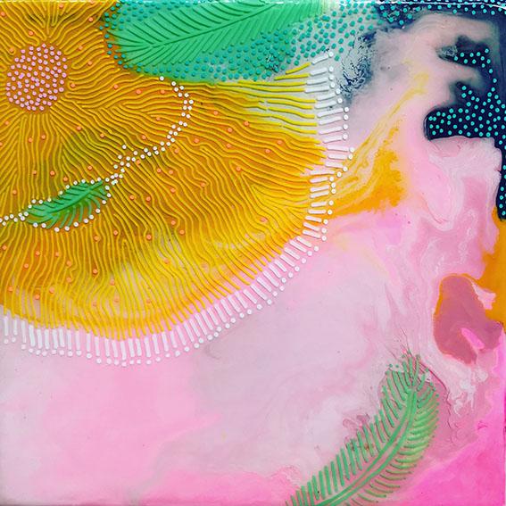 Carla Filipe Australian Artist Heavenly Delights Blossoming sunshine 2020