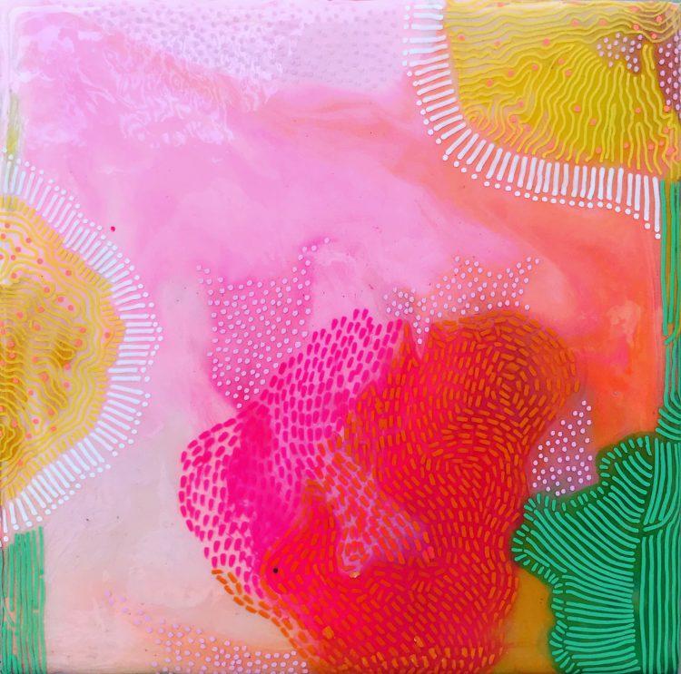 Carla Filipe Australian Artist Heavenly Delight Garden of my heart 2020